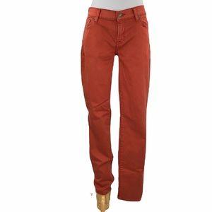 7FAMK Gwenevere Orange 5 Pocket Skinny Jeans